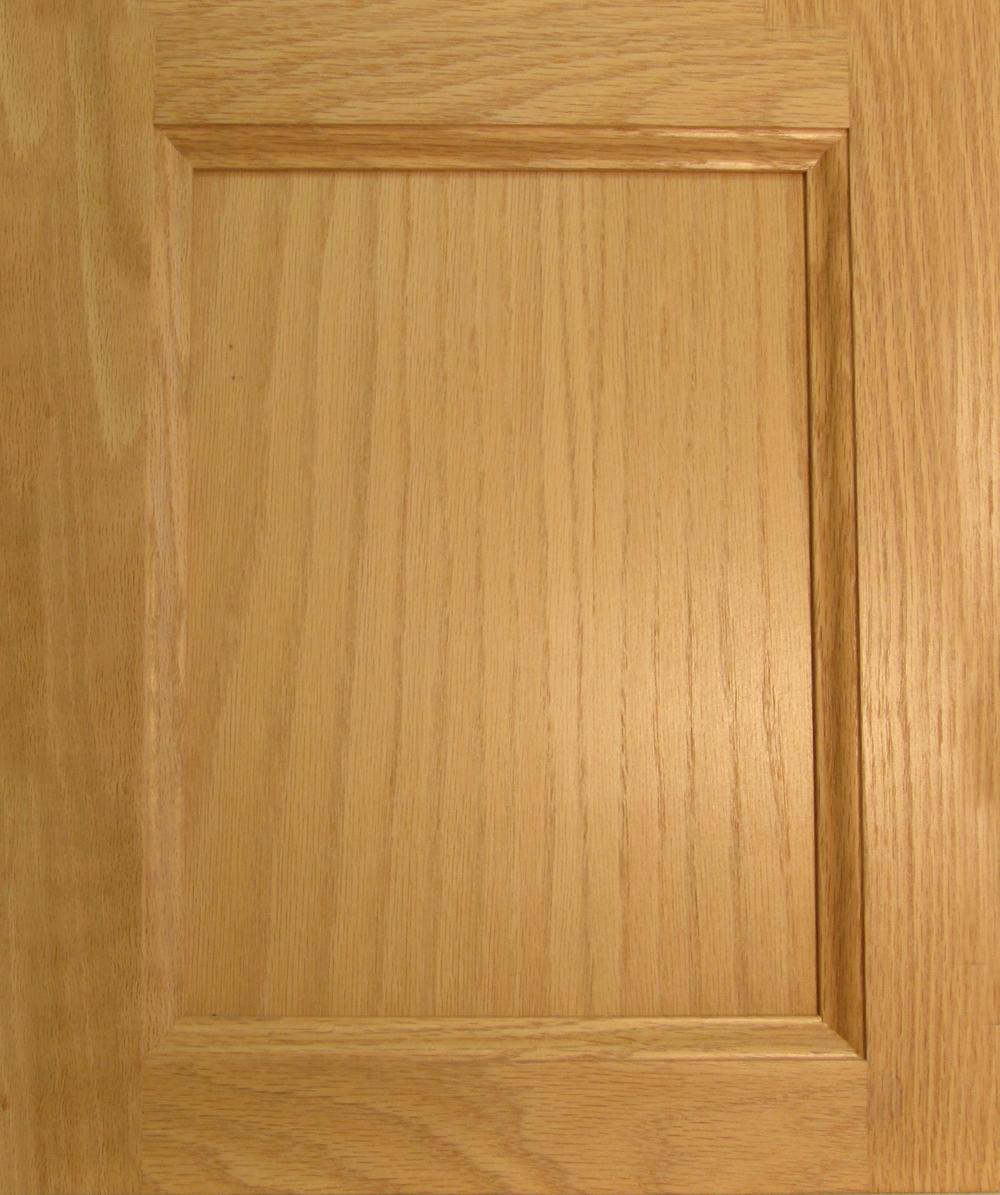 Flat Panel Oak Plywood Dhw Cabinet Doors